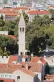 Tile roofs and belltower. Split, Croatia — Stock Photo