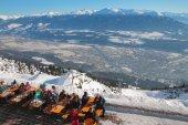 Café im Skigebiet. Innsbruck, Österreich — Stockfoto