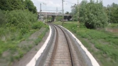 Single-line railway track — 图库视频影像