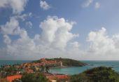 Resort in tropics. Philipsburg, Saint-Martin — Stock Photo