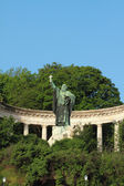 Monument à mgr gellert. budapest, hongrie — Photo