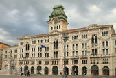 Municipality on area of unification of Italy. Trieste, Italy — Stock Photo