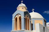 Ellas orthodox church. Thira, Santorini, Greece — Stock Photo