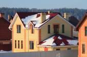 Cottage settlement, winter — Stock Photo