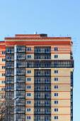 House facade with glazed balconies — Stock Photo