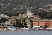 City on Ligury coast. Santa Margarita, Italy — Stock Photo