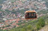 Croatia, Dubrovnik, Ropeway on mountain Srdzh — Foto Stock