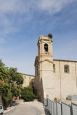 Medieval church with belltower. Ancona, Italy — Stock Photo