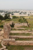 Archeological excavations of Carthage. La Goulett, Tunisia — Stock Photo
