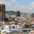 Belltower of cathedral, house and roof. Barcelona, Spain — Stock Photo #70321989