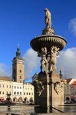 Fountain. Ceske Budejovice, Czech republic — Stock Photo
