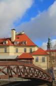 Bridge. Ceske Budejovice, Czech Republic — Stock Photo