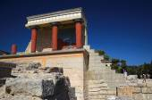 Ancient building with columnsr. Crete, Greece — Stock Photo