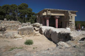 Knoss palace, archeological excavations in Crete. Greece — Stock Photo