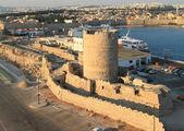 Grecia, Rodas, torre de los Ángeles — Foto de Stock