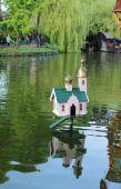 Lodge church for ducks. Copenhagen, Denmark — Stock Photo