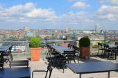 Cafe on roof. Copenhagen, Denmark — Stok fotoğraf