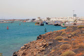 Seaport and city. Arrecife, Lanzarote, Spain — Stock Photo