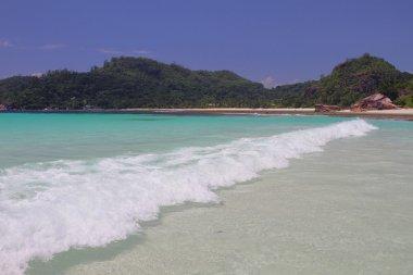 Wave in gulf Lazare (Baie Lazare). Mahe, Seychelles