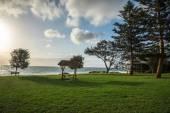 A view of City beach picnic grass area in Perth — Stock Photo