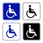 Disabled handicap icon — Stock Vector