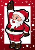 Merry christmas and happy santa claus — Stock Vector