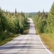 Country road in Lapland, Finland, on a sunny summer day — Stock Photo #59576683