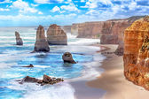Twelve Apostles along the Great Ocean Road in Australia — Stock Photo