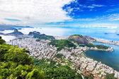 Aerial view of Rio de Janeiro city, Brazil — Stok fotoğraf