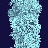 Морской узор в бирюзовых тонах. Blue — Stockvektor