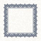 The blue square frame. White background. — Stock Vector