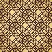 Golden background, brown seamless texture. — Stock Vector