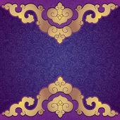 Oriental, folk ornament. Purple background. — Vettoriale Stock
