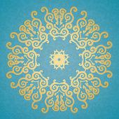 Decorative elements. Blue background. — Stock Vector