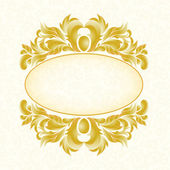 Gold pattern white background. — Vettoriale Stock