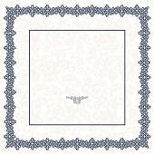 The blue square frame. White background. — Vector de stock