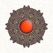 Oriental, folk ornament. White background. — Stock Vector