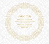 Decorative frame. White background. — Stock Vector