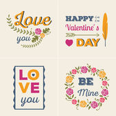 Valentines cards set — Stock Vector