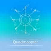 Contour ad layout for quadrocopter — Stock Vector