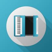 Flat vector icon for blue accordion — Stock Vector