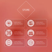 Stylized vector icons for store in internet — Stock Vector