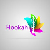 Colorful vector illustration for hookah — Stock Vector