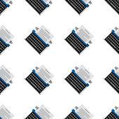 Vector background for office equipment. Typewriter — Stock Vector
