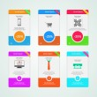 Colored vector banners for e-Marketing — Stock Vector #54325065