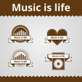 Conceptual vector icons for music. — Stock Vector