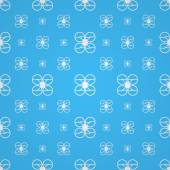 Blue vector background for quadrocopter — Stock Vector
