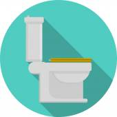Flat vector icon for toilet — Stock Vector