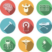 Colored vector icons for neurology — Stock Vector