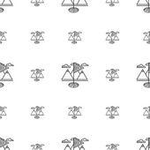 Vector background for golf. Golf flag — Stock Vector